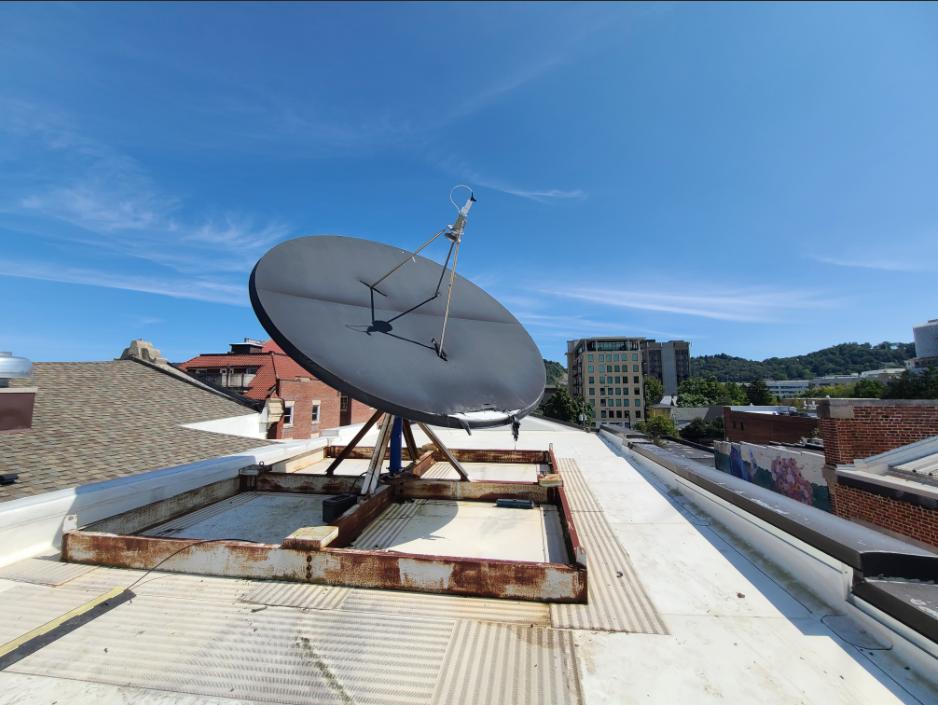 Satellite Dish on BPR Studios Roof
